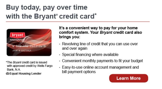 Wells Fargo Financing - Bryant Card